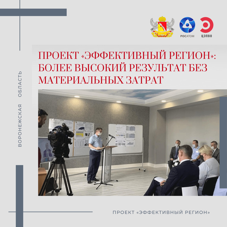 Ежемесячный доклад губернатору Воронежской области о статусе проекта «Эффективный регион»